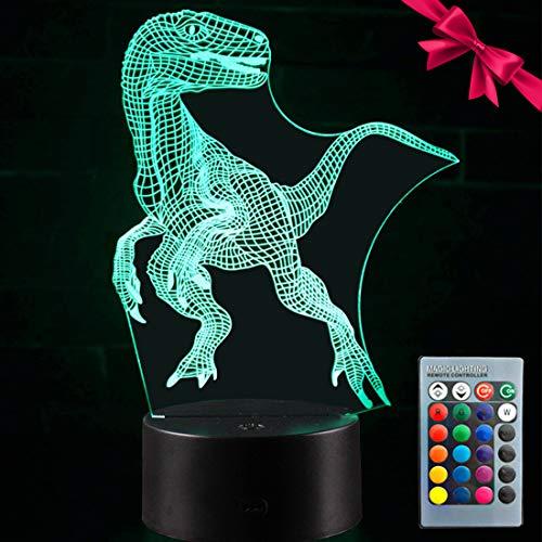 Dinosaur 3D Night Light -...