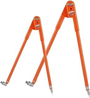 FITYLE 2 Compas/Set Compas à Crayons De Précision, Grand Diamètre - Orange L + S