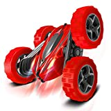 Entertaining RC Stunt Car: this toy car can not only move back and forward, turn right and left, but also but also spin 360 degree, flip and drift, even the axle changes into different posture, thus creating lots of entertainment for kids Good Contro...