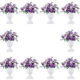 10 Stück Klassischer Blumenspindel, Dekorative Urne Kunststoff mit Einer Höhe von 43cm, Hoher...