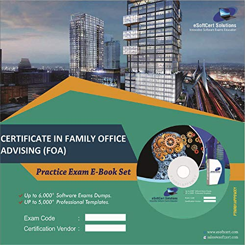 CERTIFICATE IN FAMILY OFFICE ADVISING (FOA) Exam Complete Video Learning Solution (DVD)