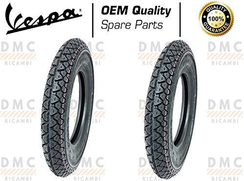 Kit de 2 neumáticos neumáticos de 3,50 – 10 para Vespa PX todos los modelos – Arcobaleno – Vespa LML Star diseño Michelin