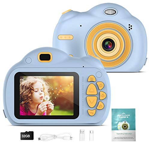 WELVAN Kinder Kamera Kinder Digitalkameras für Jungen Mädchen Geburtstag Spielzeug Geschenke 4-13 Jahre alte Kinder Action Kamera Kleinkind Videorecorder 1080P IPS 2.4 Zoll