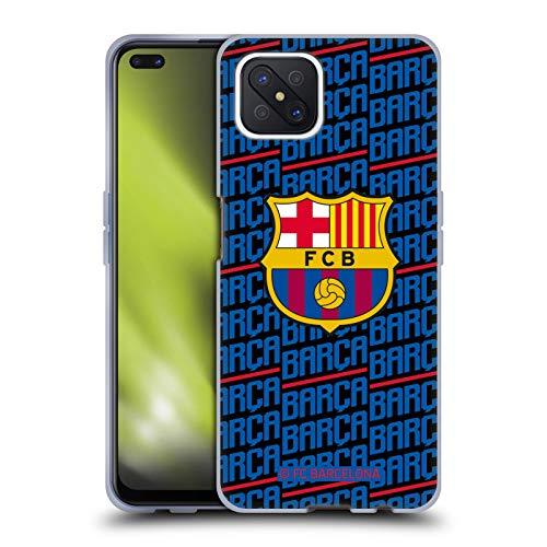Head Case Designs Oficial FC Barcelona Barca Crest Patterns Carcasa de Gel de Silicona Compatible con OPPO Reno4 Z 5G