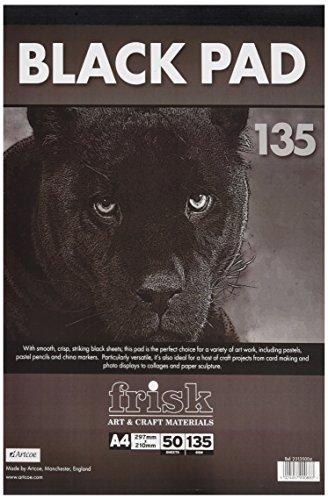 Frisk Black Pad 135gsm A4 50s