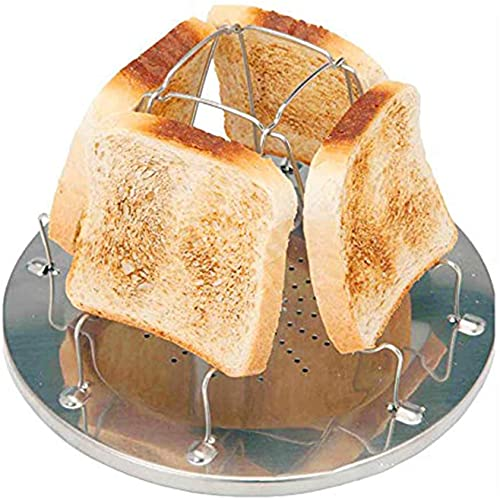 Mason Brille 4 Slice Camping Bread Foldable Toast Tray Toaster Stainless...
