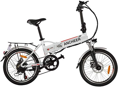 ANCHEER Folding Electric Bike for Adults, 20' Electric Bicycle/Commute...