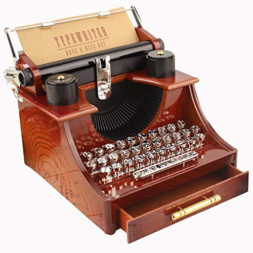 Love lamp Vintage Musical Box Nostalgique Old Typewriter Music Box projecteur Boîtes à Musique Décoration avec des Cadeaux for l'anniversaire Drawer Crafts/Noël