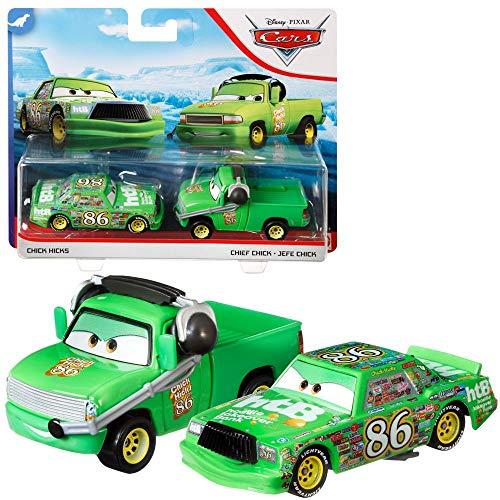 Auswahl Doppelpack   Disney Cars   Fahrzeug Modelle 2020   Cast 1:55   Mattel, Typ:Chick Hicks & Chief Chick