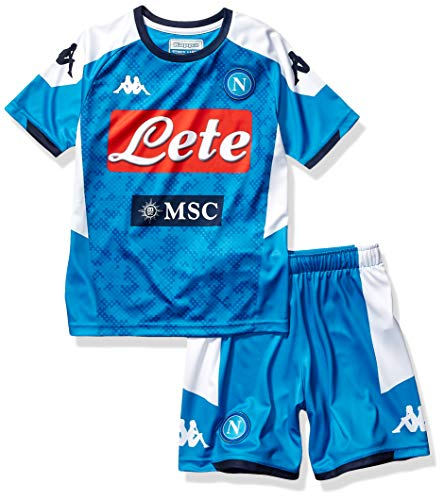 Ssc Napoli Italian Serie A Junior Home Match Kit, SkyBlue, 8 Years