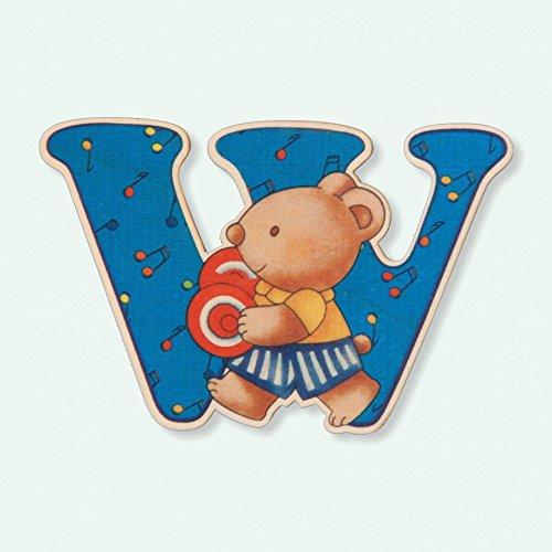 Dida -Lettre W Bois Enfant - Lettres Alphabet Bois pour Composer Le nom de Votre bébé et décorer la Chambre