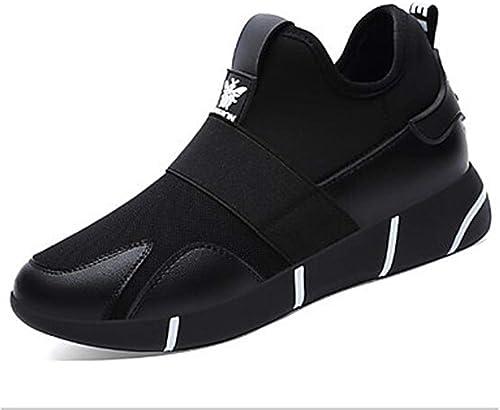 TTchaussures Femme Chaussures Polyuréthane Printemps Confort Basket Plateau Noir Argent,noir,US6 EU36 UK4 CN36