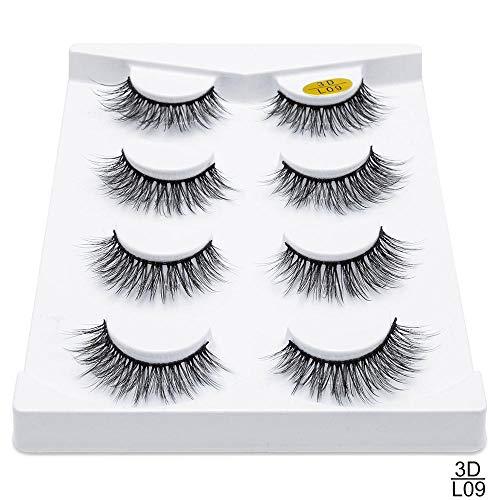 2/4 paires de faux cils naturels faux cils maquillage long 3d cils de vison extension de cils cils de vison for la beauté (Color : 4)