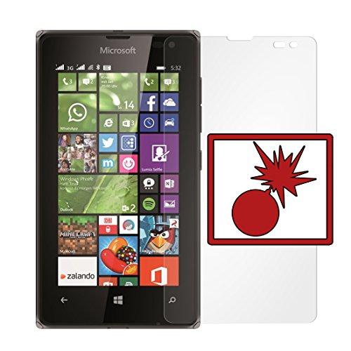 Slabo 2 x Panzerschutzfolie Microsoft Lumia 532 Panzerfolie Bildschirmschutzfolie Schutzfolie Folie Shockproof|Stoßfest unsichtbar Made IN Germany