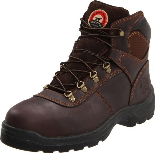 "Irish Setter Men's Ely 83608 6"" Steel Toe Work Boot,Brown,9.5 D US"