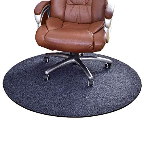 YDYG Bürostuhl-Matte Stuhlmatte für Teppich, Rund Griffige Bodenschutzmatte für Harte Parkettböden, unter dem Schreibtisch Mat Besten Rolling Stuhl und Computer-Schreibtisch,Grau,120cm