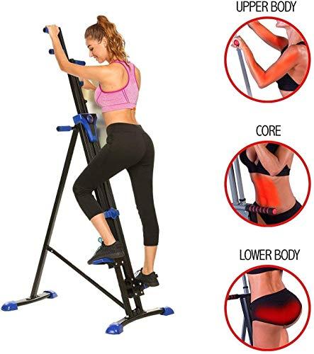 OppsDecor Stair Climber Machine Folding Climbing Exercise Machine Vertical Climbing Exercise Machine for Home Gym Fitness (Blue)