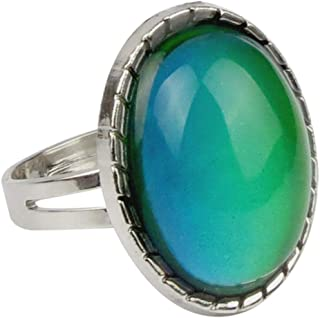 Jude Jewelers Adjustable Color Changing Mood Ring Inspirational Mystique Marble