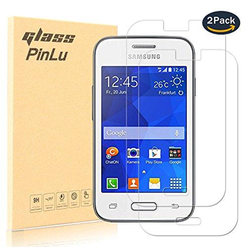 pinlu [2 Pack] Protector de Pantalla de Cristal para Samsung Galaxy Young 2 (G130H 3.5pulgadas) Protector Cristal Vidrio Templado para Samsung Young2 [9H/0.26mm,99% Transparente]