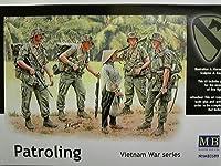 マスターボックス 1/35 米・第一空挺騎兵師団4体 + 民間女性1体 ベトナム戦 プラモデル