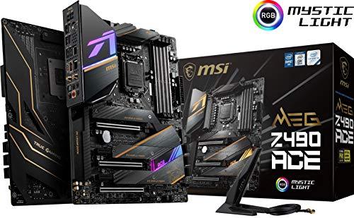 MSI MEG Z490 ACE Gaming Motherboard (ATX, 10th Gen Intel Core, LGA 1200 Socket, SLI/CF, Triple M.2...