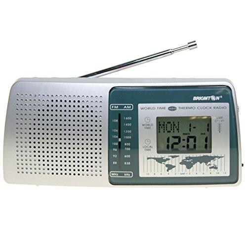 BRIGMTON BT-243 - Radio Reloj Despertador con Calendario y Temperatura