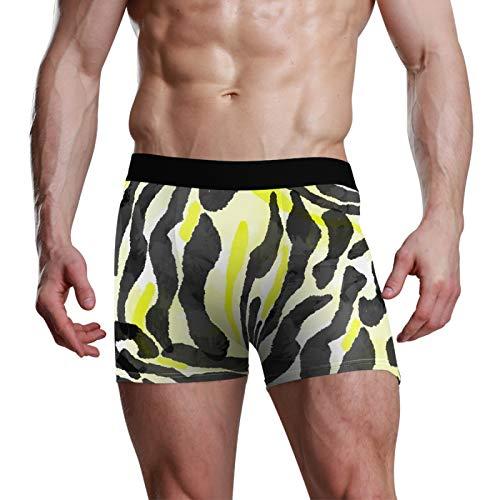 PIXIUXIU Herren Sexy Boxershorts Shorts Herren Unterwäsche Trunks Zebra Muster Dehnbar Weich Klassische Passform Gr. M, mehrfarbig