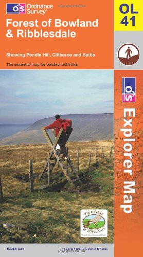 OS Explorer map OL41 : Forest of Bowland & Ribblesdale