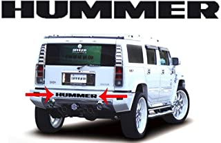 BDTrims Bumper Raised Letters Compatible with HMR H2 Models (Black)