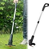 Riiai - Tagliabordi elettrico portatile per erba da giardino, tagliabordi telescopico