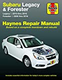 Subaru Legacy (10-16) & Forester (09-16) Haynes Repair Manual