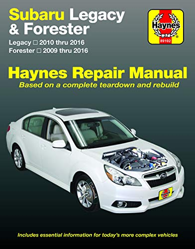 Subaru Legacy (10-16) & Forester (09-16) Haynes Repair Manual (Does not include information specific to six-cylinder and diesel engine models. ... specific exclusion noted) (Haynes Automotive)
