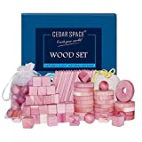 Cedar Space Cedar Blocks for Closet Storage, 100% Nature Aromatic Red Ceder Wood Protection 100 Set for Wardrobes Closets and Drawers
