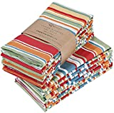 Ruvanti Cloth Napkins (12 Pack-20X20) Dinner Table Napkins,Soft & Comfortable 100% Cotton Napkins .Red &...