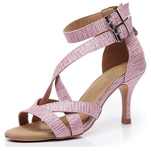 JUODVMP Zapatos de Baile Latino para Mujer, Zapatos de Baile para Fiesta...