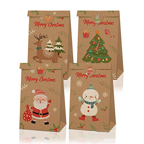 ギフトバッグ 紙袋 12枚/プレゼントバッグ ラッピング袋 カラフル 紙収納袋, 封筒シール紙 18枚付き ラッピング用品 プレゼント用 お誕生日 お祝い 紙袋 セット クリスマス