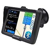 AWESAFE Navegador GPS para Coches con Visera y Bluetooth de 7 Pulgadas, con Mapas Últimos y Actualizaciones de por Vida
