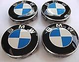 Lot de 4 cache-moyeux avec logo BMW