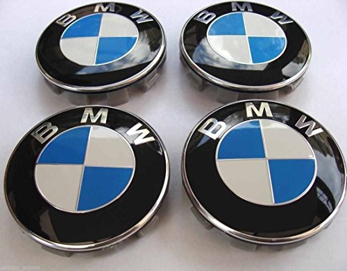 Set di 4 coperture di tappi per ruoteBMW centrali con logo emblema