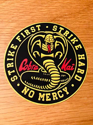 Cobra Kai Strike First Strike Hard NO Mercy Aufkleber Sticker Karate Kid Mi442