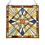 Capulina Tiffany Stained Glass Window Hangings Handmade Classic Abstract Art Style Suncatcher Windows Panels for Window and Glass Door
