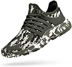 Troadlop Men's Athletic Running Shoes Non Slip Tennis Low Top Workout Shoes Lace up Fitness Slip On Walking Gym Sneakers Camouflage Green 11
