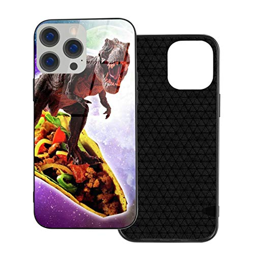 RTBB Iphone 12 Glass Case 3D Galaxy Dinosaur Travel In Space Flexible Soft Tpu Protection Back Toughened Glass Protective Shockproof Cover Cases For Iphone 12/12 Pro/12 Mini/12 Pro Max
