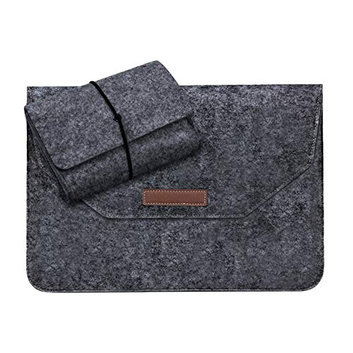 YNLRY Laptop Sleeve Bag For Macbook Air Pro Retina 11 13 15 Inch Felt Laptop Sleeve Case For Macbook Pro Air Retina 11'' 13'' 15'' (Color : Light Black, Size : 13 Inch)