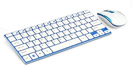 Wireless Keyboard and Mouse Combo, 2.4 GHz Wireless Long Range Wireless Connection, Blue