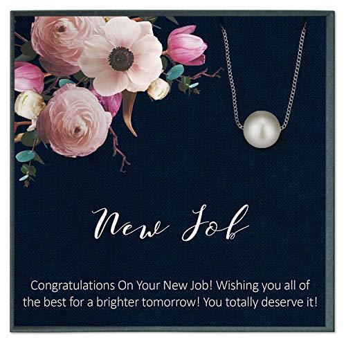 Grace of Pearl Nuevo regalo de trabajo para mujer, regalo de felicitaciones nuevo trabajo, regalo de pareja de abandono, nuevos regalos de trabajo para ella, compañero de trabajo ir lejos
