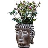 Kituir Personalidad Creativa Retrato Flor Pot Suculento Plantación Jardinera Zen Jardinera Gran Buda Estatua Plantador Decoración Jardín Maceta Pot Pozo Jardinería Ornamentos