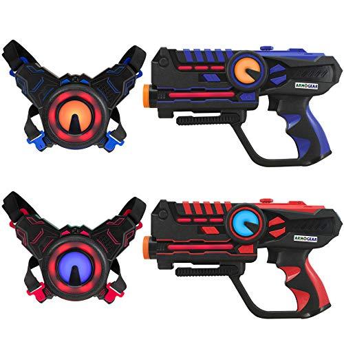 Unbekannt D 'Arpeje–Spielzeug verbunden Battle, Spiel-Laser, rot/blau