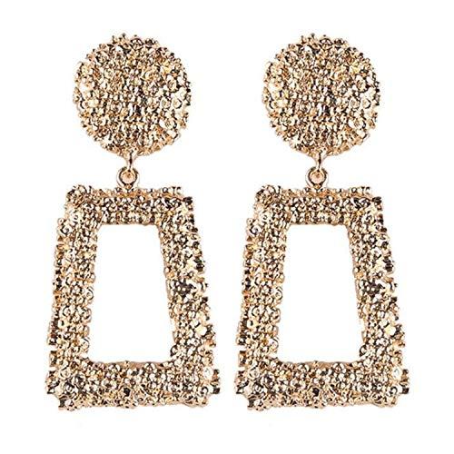 Styliee Schmuck, Mode Ohrringe, schönes Ohr Piercing, Ohrstecker,NEW Big Vintage Earrings For Women Gold Geometric Statement Earring Metal Earing Hanging Trend Fashion Jewelry Cc 1