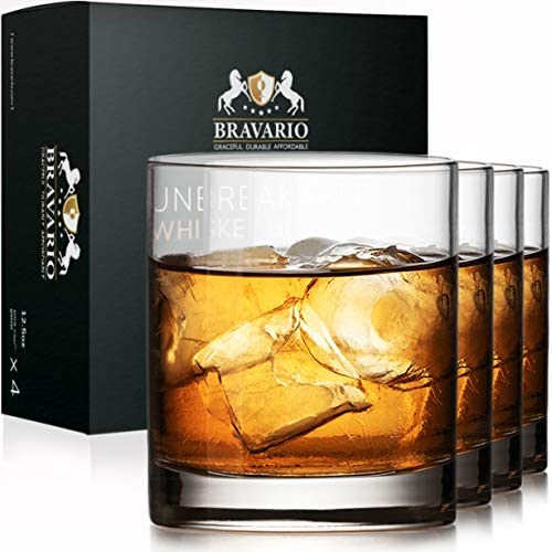 Unbreakable Whiskey Drinking Glasses 12 5 oz Shatterproof Tritan Plastic Cocktail Glass with product image